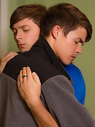 Boyfriends Andy Taylor and Ryker Madison cuddle in bed